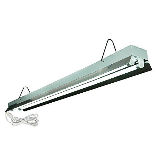 HTGSupply 4-Foot / 2-Tube High-Output T5 Fluorescent Grow Light Fixture, Bulbs Included