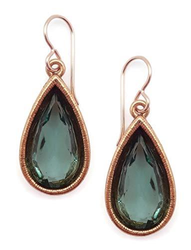 (Patricia Locke Waterlily Green Teardrop Soliloquy Swarovski Crystal Goldtone Hook Earrings)