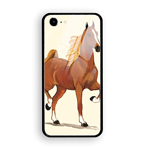 iPhone 7 Case, iPhone 8 Case Tempered Glass Saddlebred for sale  Delivered anywhere in Canada