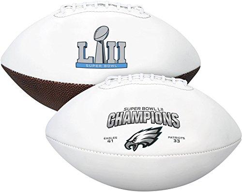 Philadelphia Eagles Super Bowl Lii Champions Rawlings White Panel Football - Fanatics Authentic Cert