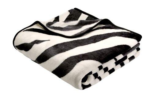 B@Home 220 x 240 cm Biederlack De Luxe Zebra Blanket Throw, Multi-Colour by (Luxe Zebra)