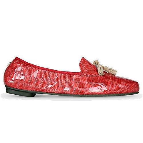 Flat Morena Red Foldable Rubia Women's Loafers Morena U1pnqxAw1