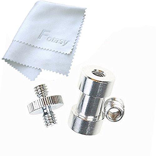 fotasy-spkit-1-4-3-8-tripod-screw-mount-convert-adapter-flash-light-stand-camera-spigot-silver