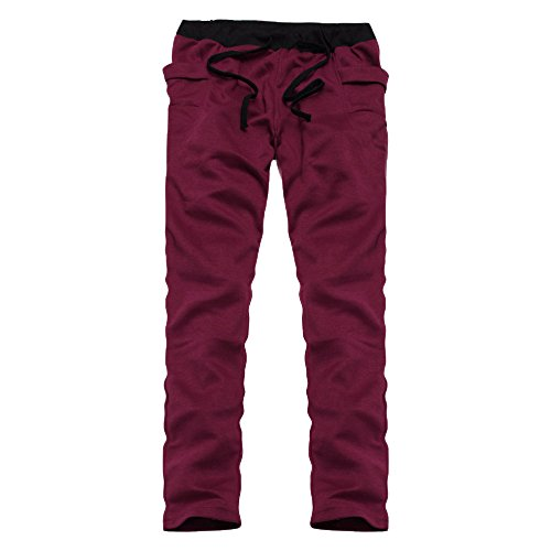 Serrage Printemps Mode Café Gris Sweatpants Sport Fantaisiez Hommes Joggeur Foncé Trousers Pantalons Vert Noir Homme Survêtement Long De Vin Été Rouge Pants Droit Cordon vvf68qAwx