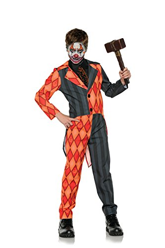 Amazon.com Underwraps Evil Clown Tuxedo Boys Orange Black Halloween Costume Clothing  sc 1 st  Amazon.com & Amazon.com: Underwraps Evil Clown Tuxedo Boys Orange Black Halloween ...