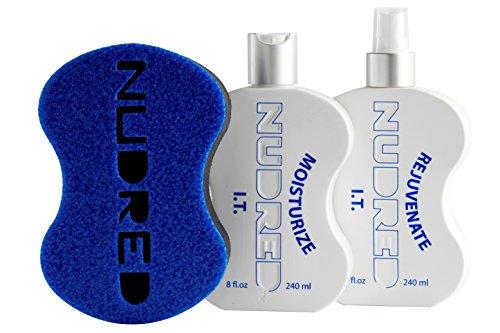 Dread Starter Set (The 'Starter' Moisturize I.T. 2 Bottle SET with BLUE Hair Sponge for Men / Women | The Original NUDRED Natural Hair Care System)