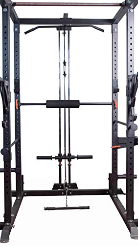 Zone Plate Pinhole - Bells of Steel Light Commercial Power Rack + LAT Pulldown Bar