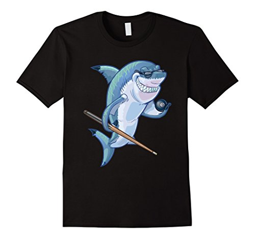 Cartoon Smiling Shark Playing Billiards Pool - Cartoon Shark With Sunglasses