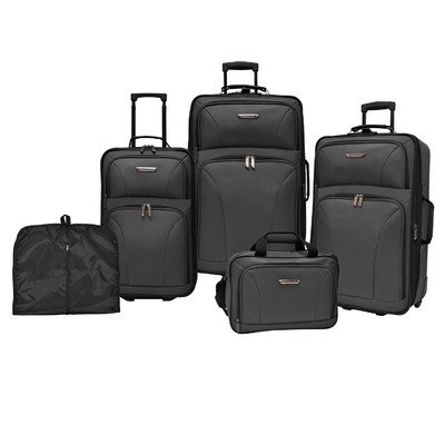 Traveler's Choice Versatile 5-Piece Luggage Set (Black) by Traveler's Choice