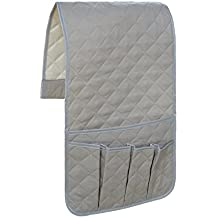 Godery Sofa Couch Chair Armrest Organizer, Chair Caddy For ipads, Phone, Book, Magazines, TV Remote Control Holder (Grey)