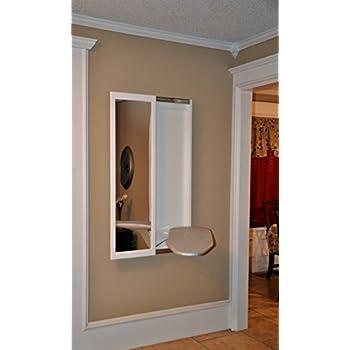 Slide-Away Wall Mounted Ironing Board with Mirror Door