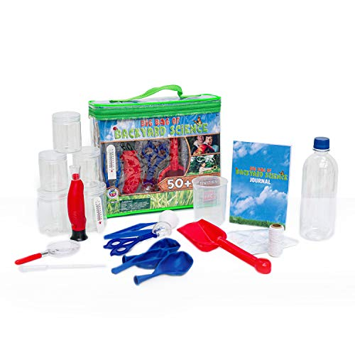 Be Amazing! Toys Big Bag of Backyard Science STEM Science Kits for Kids – Educational Science Toys for Kids with 50…