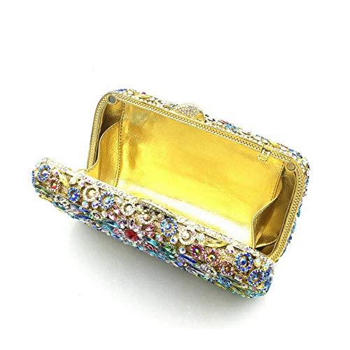 Main Color Lovely Prom Diamante Sac Pochette Sparkly Pochette Cristal Main rabbit Bandoulière Bridal Sac Sac en Gold Femmes À Party Evening Colorful À r6Rqrwv