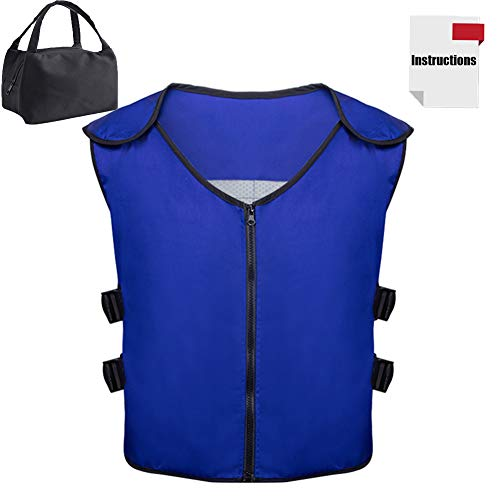 Cooling Vest with 20Pcs Ice packs and Insulated Bag for Men and Women for Fishing,Cycling,Running,Cooking ()