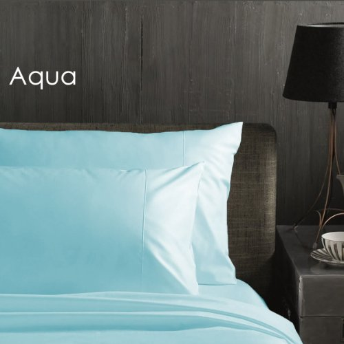 Deep Pocket bed sheets - iEnjoy Bedding 1500 Series Brushed Microfiber 4 Piece Bed Sheet Set - Queen, Aqua