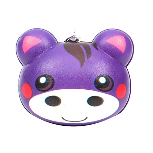 Binory Squishy Toy,Exquisite Mini Cute Animal Creative Purchase Bag/Wallet/Keychain/Phone Ornament,Slow Rising Attractive Toy,Stress Relief Fun Kawaii Decompression Toy,Children's Day Gift(J)