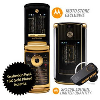 Quad Band Headset - MOTOROLA MOTORAZR2 V8 2GB 18k GOLD LUXURY EDITION WITH BLUETOOTH HEADSET FULL PACK WITH ALL ACCESSORIES (UNLOCKED QUADBAND) MP3,CAMERA,BLUETOOTH,GSM CELL PHONE