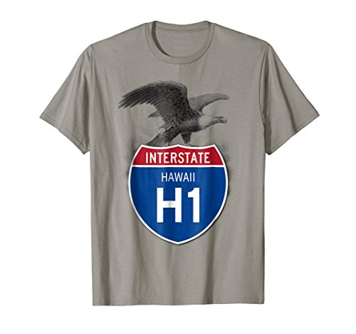 Hawaii HI I-H1 Highway Interstate Shield T-Shirt TShirt Tee ()