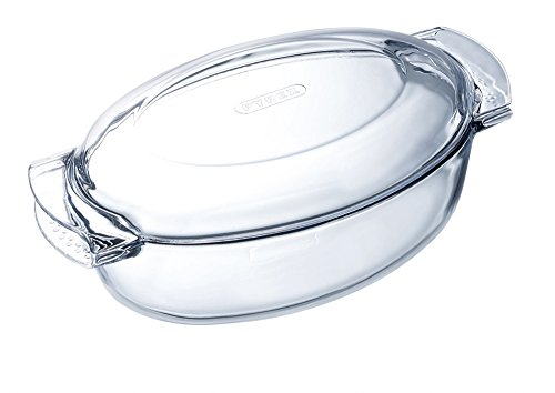 Pyrex Essentials Glass Oval Casserole high Resistance, 3 L