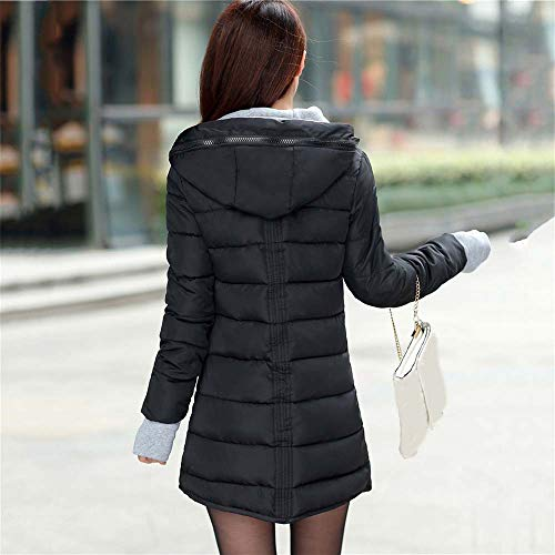 Hooded Pocket Soprabito Capispalla Parka Giacca Lunga Imbottito Cotone Donna Invernale Cappotto Moda Con In Nero Maniche A Coat Lunghe Guanti Giacche Koly OxH4g