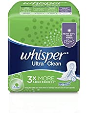 Whisper Ultra Clean Heavy Flow Day/Night Wings Sanitary Pads