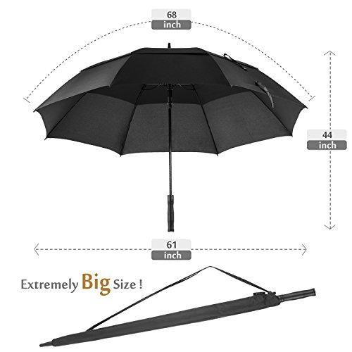 Oak Leaf 68 Inch Large Golf Umbrella Windproof Lightweight Sun Rain Umbrella by Oak Leaf (Image #2)