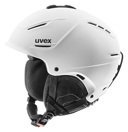 Uvex Unisex Skihelm p1us, white mat, 55-59 cm, 5661531105