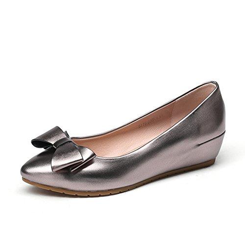 En el otoño zapatos alta/Versión coreana de arcos asakuchi señaló zapatos/Mujer tacones B
