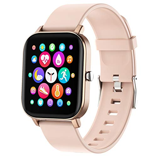Smart Watch, FirYawee Smartwatch for Android Phones and iOS Phones,Fitness Tracker Waterproof IP68 with Heart Rate…
