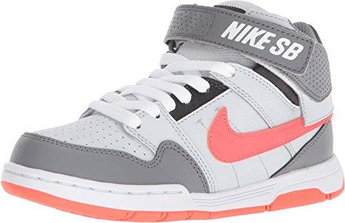 Nike Boys' Mogan Mid 2 Jr Skateboarding-Shoes, Pure Platinum/Rush Coral. (6.5 M US Big Kid)