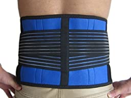 Brand New Deluxe Neoprene Double Pull Lumbar Lower Back Support Brace Exercise Belt (XXXXL(135CM-150CM))