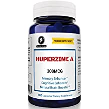 Huperzine A 300mcg 180 capsules, Nootropic Brain Booster Supplement, for Memory & Focus. 300 Mcg of Huperzine A, The Powerful and Natural Mental Booster. A massive 6 month Supply.