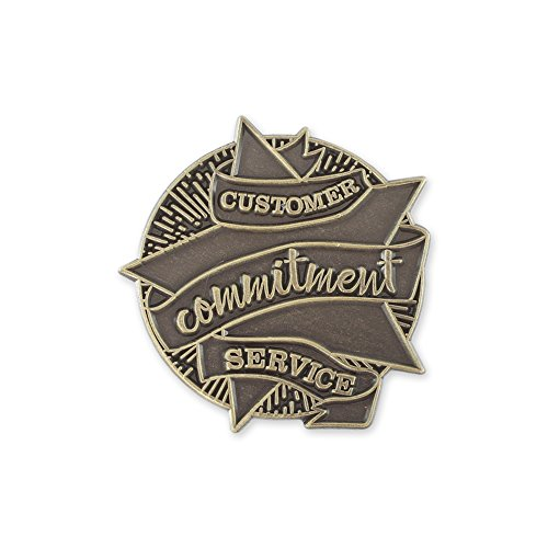 Service Star Pin (Customer Service Commitment Star Antique Gold Lapel Pin– 1 Pin)