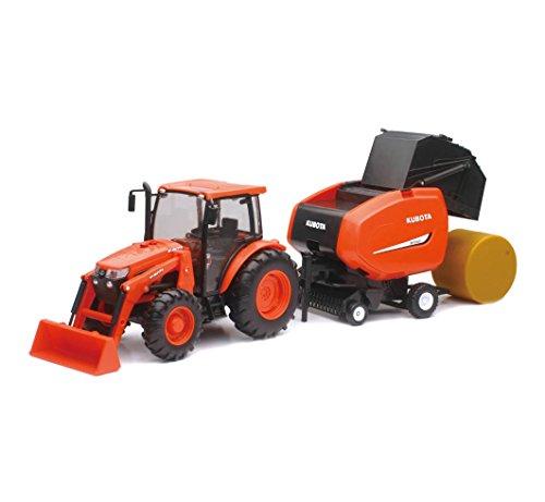 NewRay 1:18 Kubota M5-111 with Hay Baler (Kubota Tractor Sale)