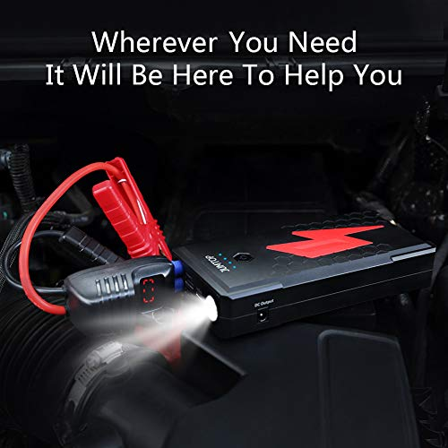 JUMTOP QDSP 2500A Peak 20800mAh Portable Car Jump Starter (8.0L Gas/6.5L Diesel Engine) Auto Battery Booster & Power Bank and Phone Charger with Dual USB Smart Charging Port and LED Flashlight by JUMTOP (Image #4)