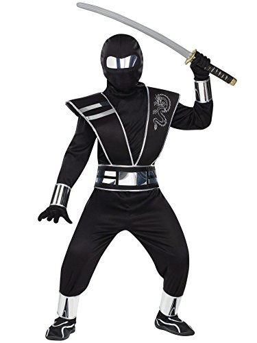Boys Halloween Fancy Dress Costumes Kids Ninja Costume  (Large Image)