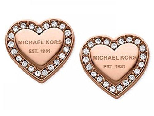 P.phoebus 18K Rose Gold Plated Heart Earrings Vintage Swarovski Crystal Studs Rhinestones Dangle Charms Hoops for Women Girls (3)