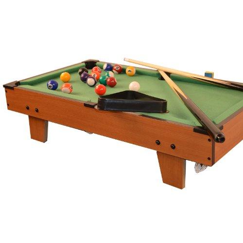 Mini Billardtisch Poolbillard Tischbillard Auflagemodell mit Zubehör Holz 69 x 37 x 17 cm