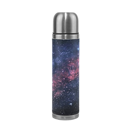 TSWEETHOME Vacuum Insulated Water Bottle Double Wall Stainless Steel Leak Proof Wide Mouth with Novelty Graphic The Vast Universe of Nebulae Compact Bottle Beverage Bottle