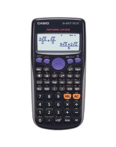 Casio FX-83 GT Plus Wissenschaftlicher Taschenrechner  - UK Version, engl. Bedienungsanleitung