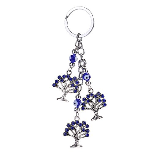 AP Shop,Evil Eye Key Chain Tree Pendant Keyring Car Handbag Keyfob Charm Gift.
