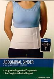 Curad ORT21110SMDH Tri-Panel Abdominal Binder, Small/Medium