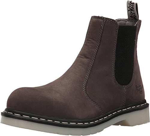 (Dr. Martens Work Women's Arbor Steel Toe Chelsea Boot Grey 5 B UK)