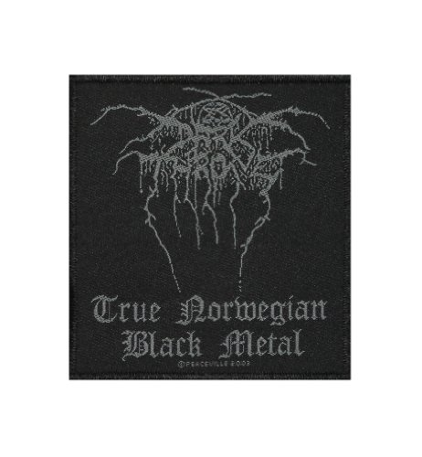 Darkthrone True Norwegian Black Metal Music Woven Applique Patch