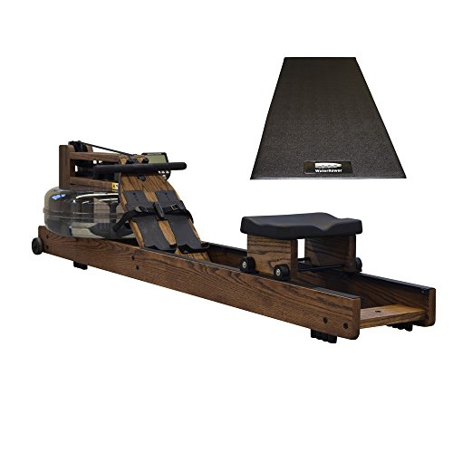 Water Rower Oak Rowing Machine Bundled with WaterRower Mat