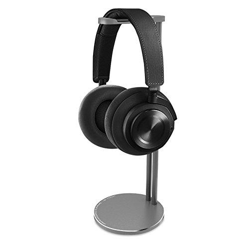 Headphone Stand, CROSS LINE Universal Aluminum Headphone Bracket, Stylish Headset Holder for Sennheiser, Sony, Audio-Technica, Bose, Shure, AKG, Panasonic Headphones and More (Gray)