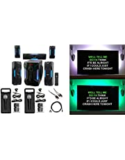 "Rockville Bluetooth Home Theater Karaoke Machine System w/8"" Subwoofer + LED'S"