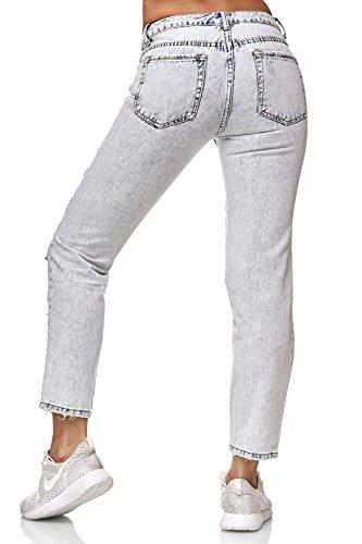 Stile Ragazzo D2351 Jeans Arizonashopping Distrutto Strappato Pantaloni Donna Blu qfOSxnZH