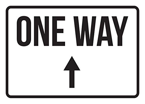 iCandy Products Inc One Way Up Arrow No Parking Business Safety Traffic Signs Black - 7.5x10.5 - Plastic