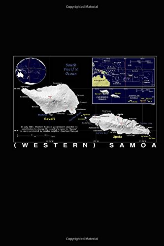 Download Modern Day Color Map of Western Samoa Journal: Take Notes, Write Down Memories in this 150 Page Lined Journal PDF